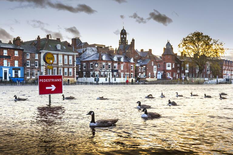 Andrew McCaren with 'York Flooding'